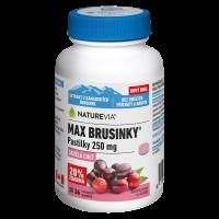 SWISS NATUREVIA Max brusinky pastilky 36 pastilek