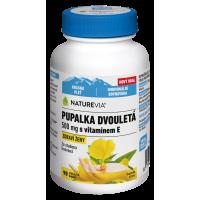 NATUREVIA Pupalka dvouletá 500 mg + Vitamín E 90 kapslí