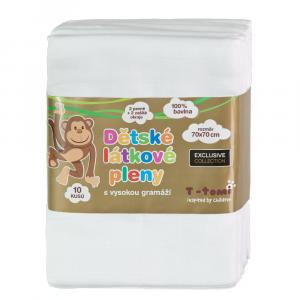T-TOMI EXCLUSIVE COLLECTION Látkové Tetra pleny Bílé 70 x 70 cm, 10 ks