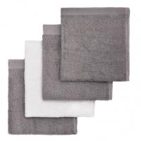 T-TOMI Koupací žínky Grey / Šedá 4 ks
