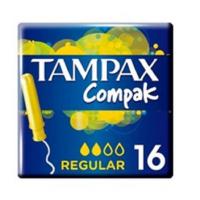 TAMPAX Compak Tampony s aplikátorem Regular 16 ks