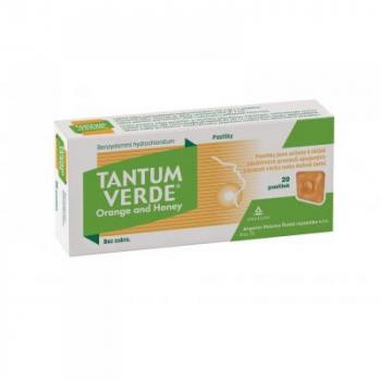 TANTUM VERDE ORM Orange and honey pastilky 20x 3 mg