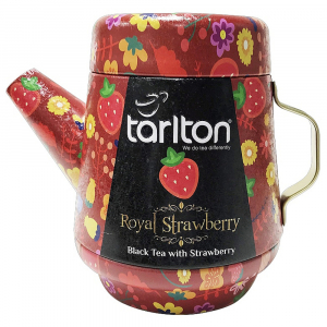 TARLTON Tea Pot Royal Strawberry černý čaj plech 100 g