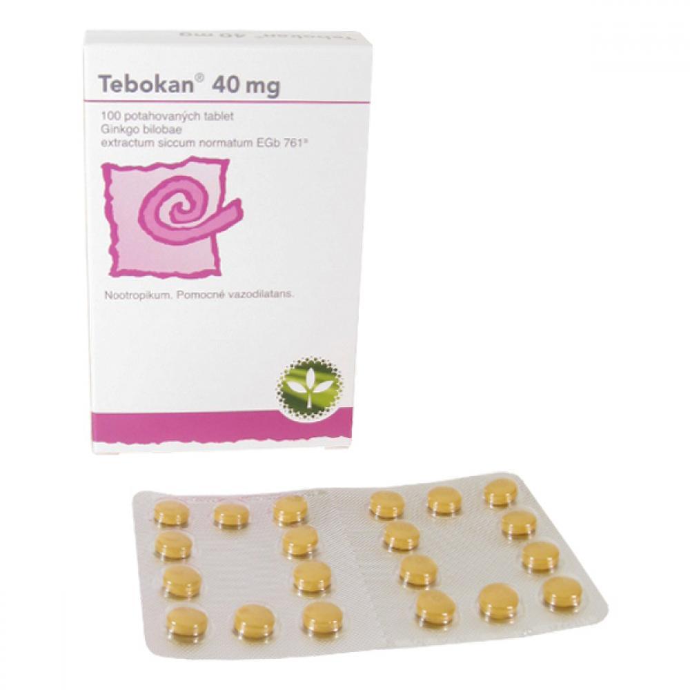 TEBOKAN 40 MG 100X40MG Potahované tablety