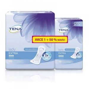 TENA Lady extra inkontinenční vložky 4 kapky +50% 30 kusů