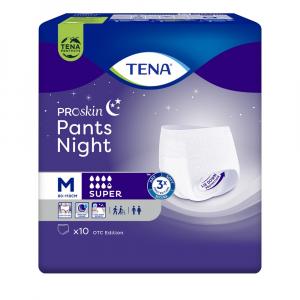 TENA Pants night super inkontinenční kalhotky vel. M 10 kusů
