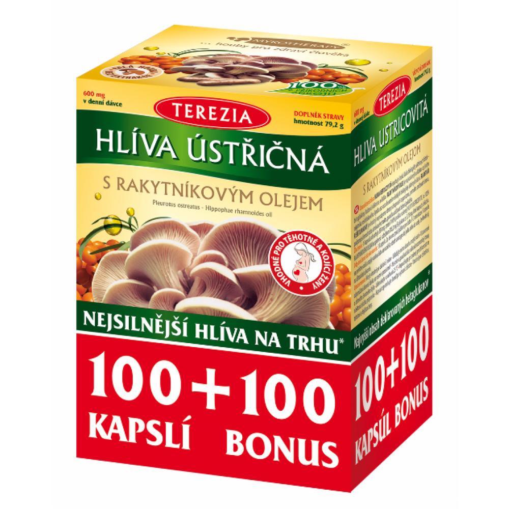TEREZIA Hlíva ústřičná s rakytníkovým olejem 100 + 100 kapslí ZDARMA