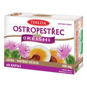 TEREZIA Ostropestřec + Reishi 60 kapslí