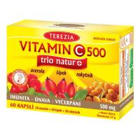 TEREZIA Vitamin C 500 mg trio natur+ 60 kapslí
