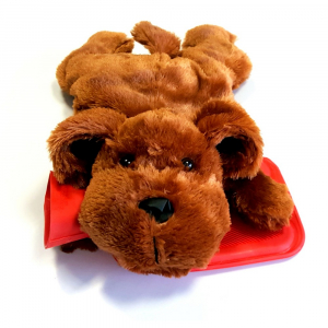 SANITY Termofor dětský tmavě hnědý pes 0,7 l