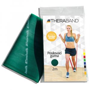 THERA-BAND Posilovací guma zelená - silná 2 m