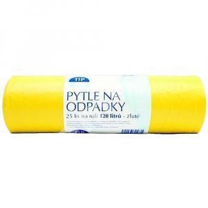 TIP LINE  Pytle na odpadky žluté 120 litrů 25 ks