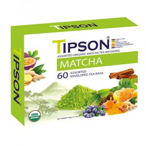TIPSON Matcha Assorted zelené čaje 60 sáčků BIO