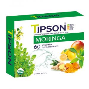TIPSON Moringa Assorted bylinné čaje 60 sáčků BIO