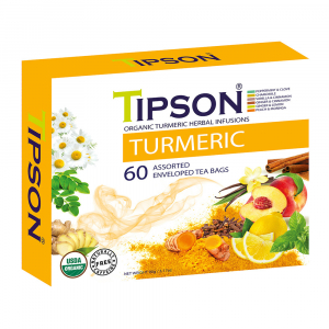 TIPSON Turmeric Assorted bylinné čaje 60 sáčků BIO