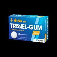 TRAVEL GUM 20 mg léčivá žvýkací guma 10 kusů