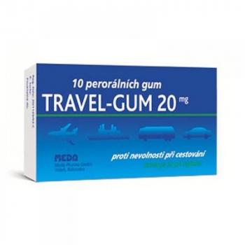 TRAVEL-GUM žvýkačky 10x20 mg