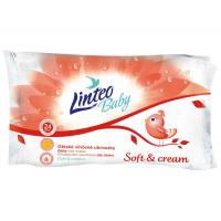 LINTEO Baby Vlhčené ubrousky Soft & Cream 24 kusů