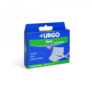 URGO Burns Krytí na popáleniny síťka 5 x 5 cm 6 kusů