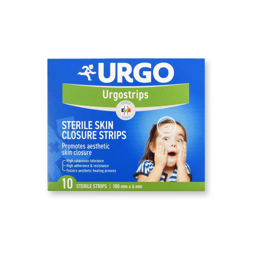 Náplast Urgo Strips 100x6 mm náplasťové stehy 10 ks