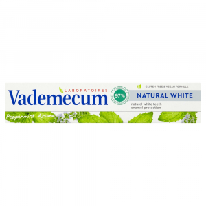 VADEMECUM Zubní pasta Natural White Peppermint 75 ml
