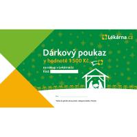 Vánoční elektronický dárkový poukaz 1500 Kč