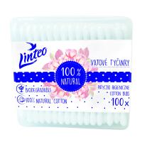 LINTEO Vatové papírové tyčinky BOX 100 ks