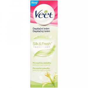 VEET Silk & Fresh Depilační krém pro suchou pokožku 100 ml