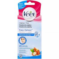 VEET Voskové pásky na obličej pro citlivou pokožku a ubrousky pro závěrečnou péči 20 ks