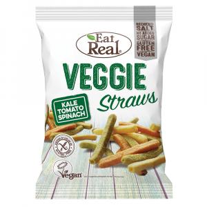 EAT REAL Veggie Straws s kapustou, rajčaty a špenátem 113 g BEZ lepku