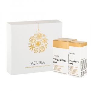VENIRA Dárkový set 40denní kúra 80 kapslí a Švestkový olej 50 ml