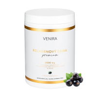 VENIRA Premium kolagenový drink příchuť černý rybíz 324 g