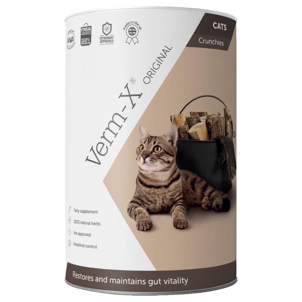 VERM-X Přírodní granule proti střevním parazitům pro kočky 60 g