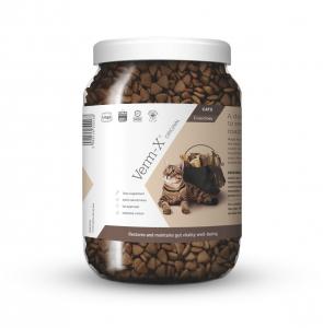 VERM-X Přírodní granule proti střevním parazitům pro kočky 650 g