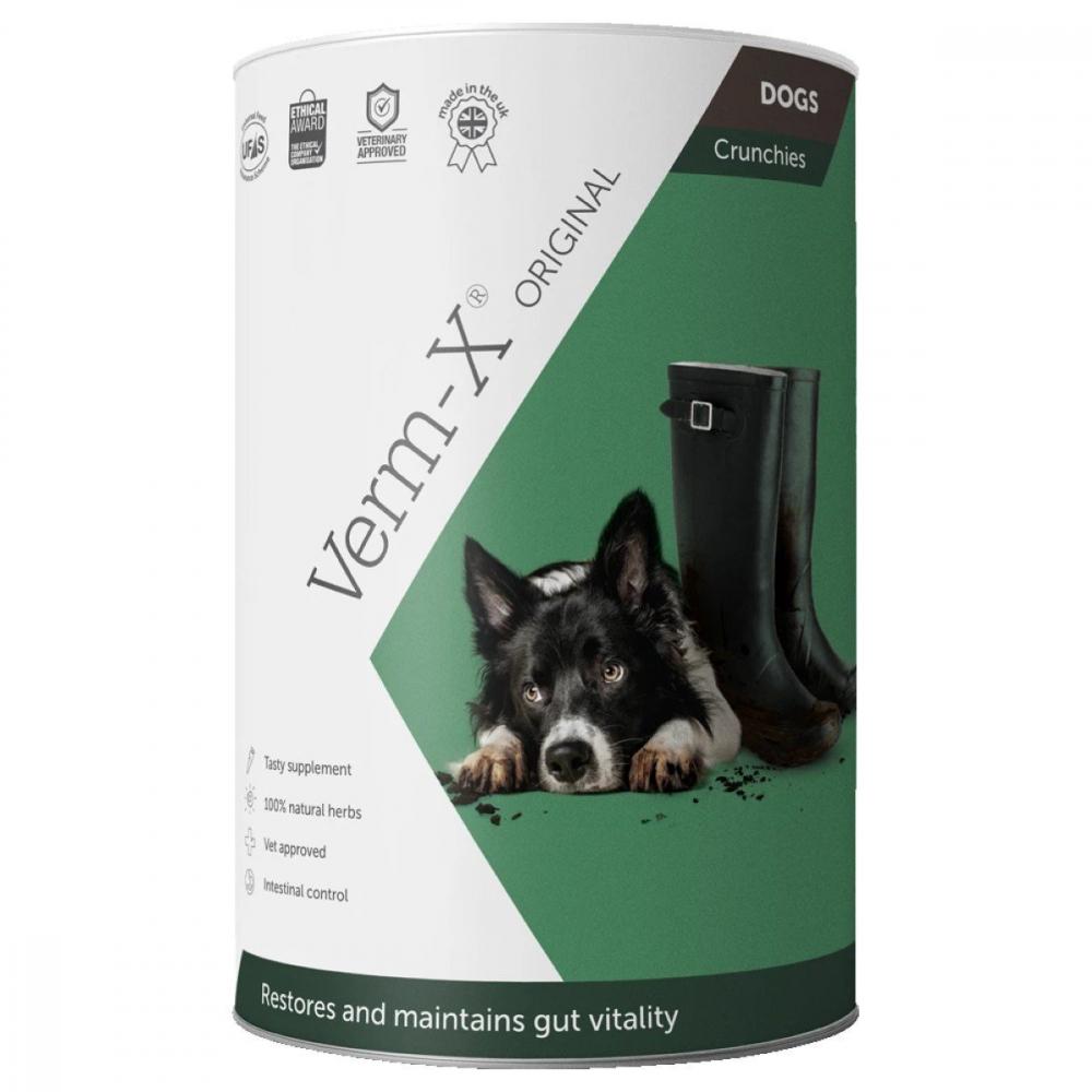 VERM-X Přírodní granule proti střevním parazitům pro psy 325 g