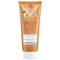 VICHY Capital Soleil Ochranné jemné mléko pro děti na obličej a tělo SPF 50 300 ml