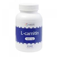 VIESTE L-carnitin 500 mg 50 tablet