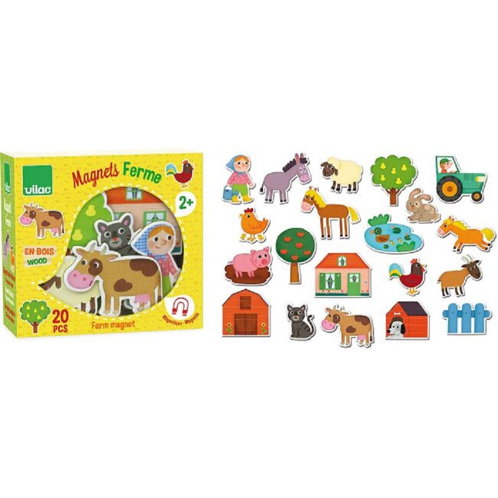 VILAC Dřevěné magnetky Farma 20 ks