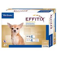 VIRBAC Effitix Spot-on pro psy XS (1,5-4 kg) 4 pipety