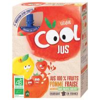 VITABIO Cool BIO Juice jablko, jahoda a acerola 4 x 105 ml