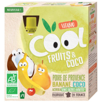 VITABIO ovocné BIO kapsičky Cool Fruits kokos, hruška, banán a acerola 4 x 85 g