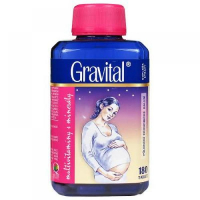 VitaHarmony Gravital pro těhotné a kojící ženy 180 tablet