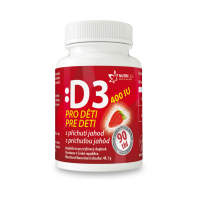 NUTRICIUS Vitamín D3 400IU pro děti jahoda 90 tablet