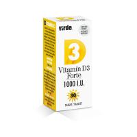 VIRDE Vitamín D3 Forte 1000 I.U. 30 tablet
