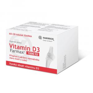 FARMAX Vitamin D3 60+30 tobolek ZDARMA