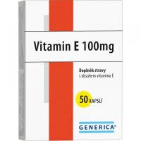 GENERICA Vitamin E 100 mg 50 kapslí