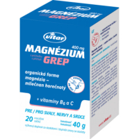 VITAR Magnézium 400mg + vitamín B6 + vitamín C grep sáčky 20 x 2 g