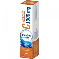 REVITAL Vitamin C pomeranč 1000 mg 20 šumivých tablet