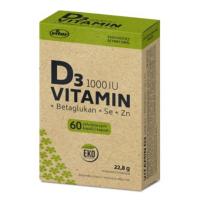 VITAR EKO Vitamin D3 1000IU + betaglukan 60 kapslí