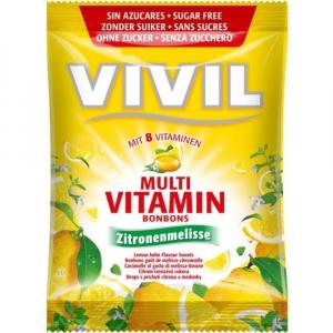 VIVIL Multivitamín citron + meduňka bez cukru 60 g